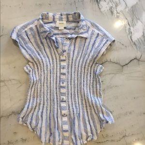 Maeve brand collard easy wear blouse!